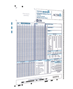 Kit Composed of TN3 CompuScan Answer Sheets, Grades 4–12, and Rulers